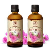 Burdock Root Oil 6.8oz 200ml- 2x100ml - 100% Pure & Natural - Arctium Lappa Root - Best Hair Oil - Great Benefits for Skin - Hair - Face - Body Care - Glass Bottle - Oils Burdock
