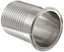 """Dixon 14MPHRL400 Stainless Steel 304 Sanitary Fitting, Brewery Hose Adapter, 4"""" Tube OD x 4"""" Hose ID Barbed"""