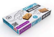 The Purple Cow - Stamper - Dino Maker Stamp Kit for Kids.  Paint Stamper for Arts and Crafts. Develop Creativity with 35 Stamps and an Ink pad, for Girls and Boys Ages 6 to 16.