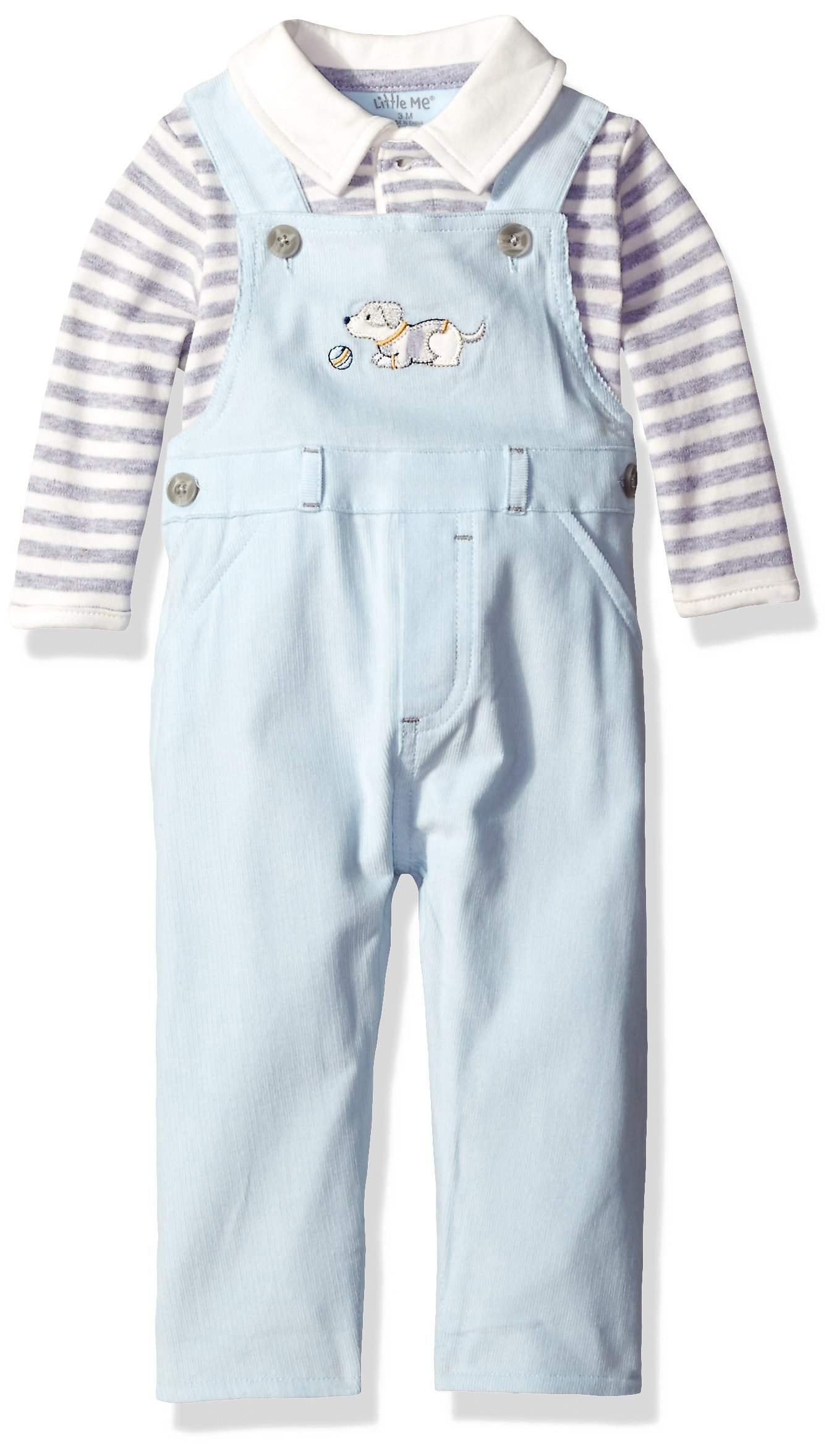 Little Me Baby Boys' Overall Set