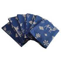 "Plush Home Set of 6 Napkins - Indigo Pine Forest, 100% Cotton of Size 20"" X20 Inch, Eco - Friendly & Safe."