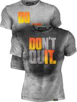 Actizio Sweat Activated Funny Motivational Workout Shirt, Do It - Don't Quit