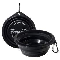 Franklin Pet Supply Collapsible Pet Travel Bowl BPA Free – FDA Approved – Dogs – Cats