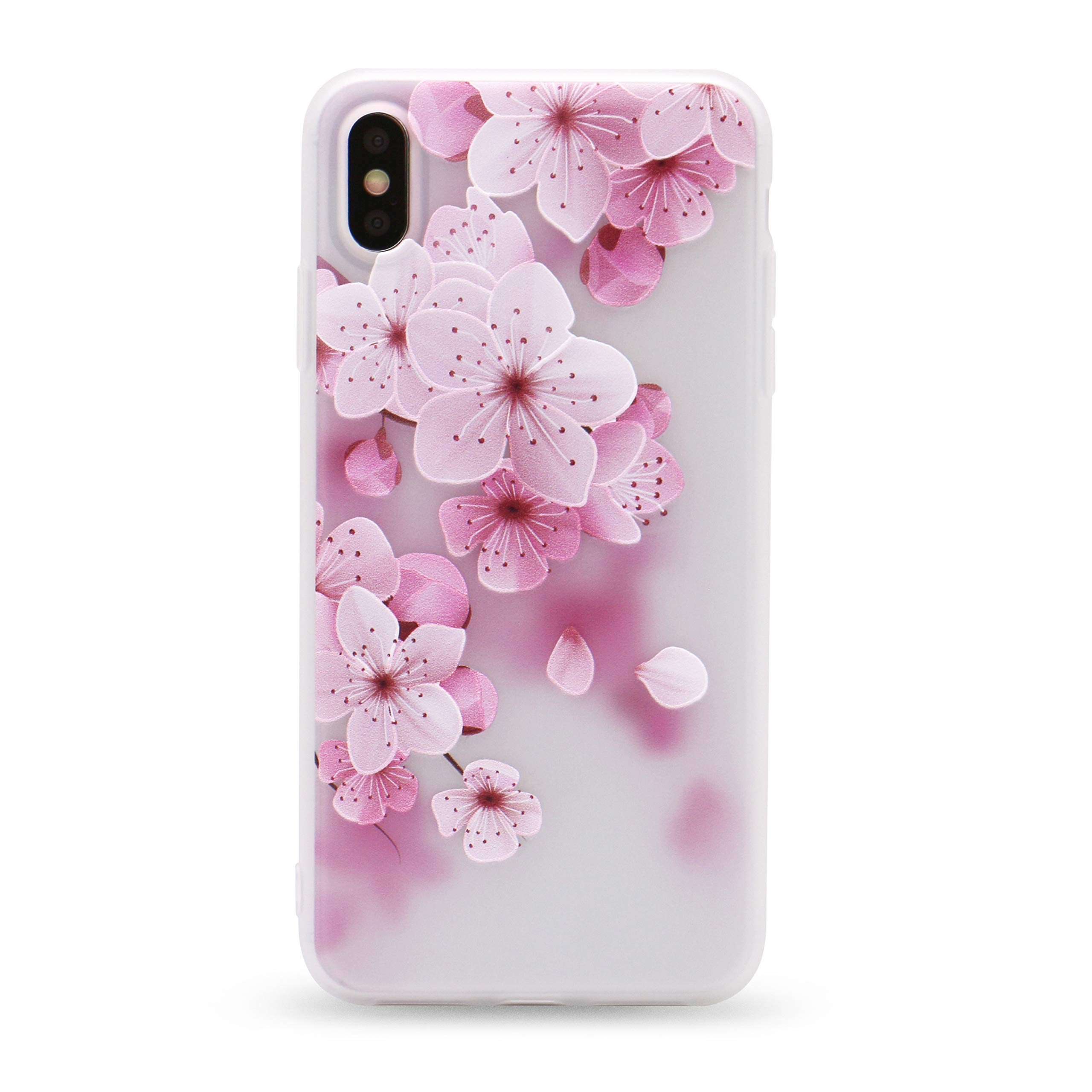 IMIFUN iPhone Xs Max Case 3D Relief Flower Silicon Phone Case for XS Max Rose Floral iPhone max Cases Soft TPU Cover(5619, XSMAX)