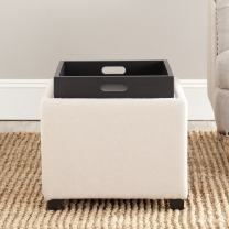 Safavieh Hudson Collection Harrison Taupe Single Tray Ottoman