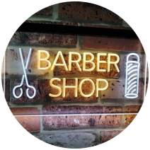 "ADVPRO Barber Shop Hair Cut Scissor Pole Display Dual Color LED Neon Sign White & Yellow 16"" x 12"" st6s43-i2044-wy"