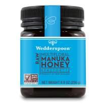 Wedderspoon Raw Premium Manuka Honey KFactor 12, Unpasteurized, Genuine New Zealand Honey, Multi-Functional, Non-GMO Superfood, 8.8 Ounce