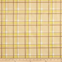 Oil Cloth International Oilcloth Scottish Plaid Yellow Fabric By The Yard