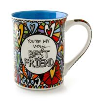 """Our Name is Mud """"Best Friend"""" Cuppa Doodle Stoneware Mug, 16 oz."""
