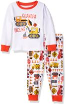 The Children's Place Baby Boys' Long Sleeve Top and Pants Pajama Set