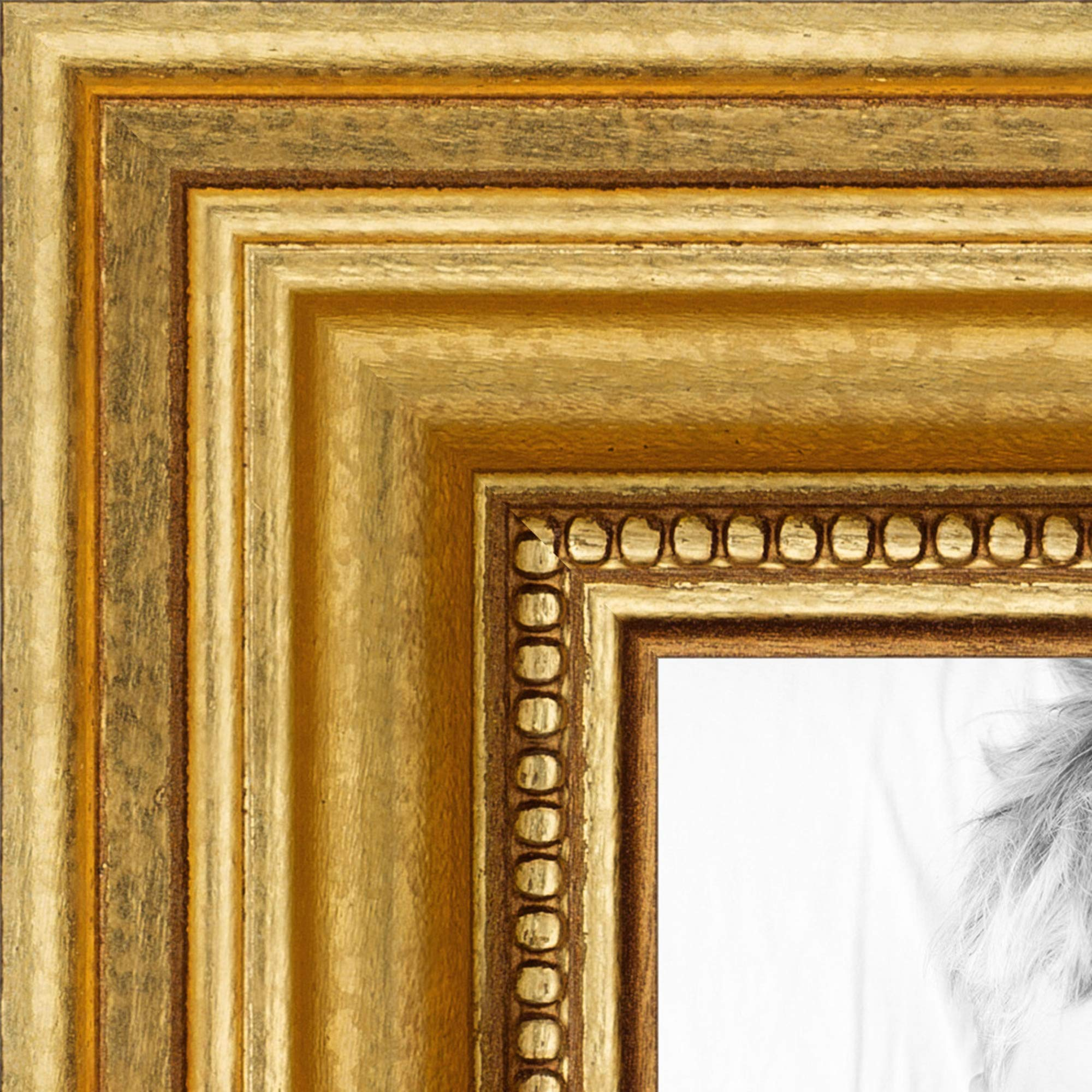 ArtToFrames 8x22 inch Gold Foil on Pine Wood Picture Frame, 2WOM0066-81375-YGLD-8x22