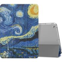 MoKo Case Fit 2018/2017 iPad 9.7 6th/5th Generation - Slim Lightweight Smart Shell Stand Cover with Translucent Frosted Back Protector Fit iPad 9.7 Inch 2018/2017, Starry Night(Auto Wake/Sleep)