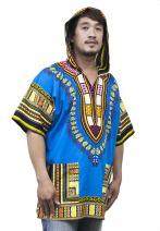 LOFBAZ African Dashiki Hoodie Shirts Unisex Traditional Hippie Festival Clothing