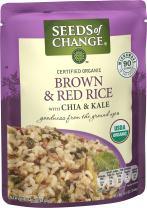 SEEDS OF CHANGE Organic Brown & Red Rice, 8.5oz