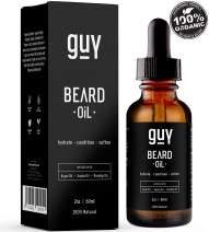 Beard Oil |100% Natural With Argan Oil, Jojoba Oil, Calendula Oil, Rosehip Oil, Aloe Vera| Unscented Beard Conditioner Moisturizer | Men's Vegan Beard Oil | Beard Grooming and Care. 2oz