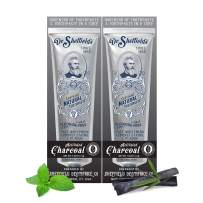 Dr. Sheffield's Certified Natural Toothpaste (Charcoal) - Great Tasting, Fluoride Free Toothpaste/Freshen Your Breath, Whiten Your Teeth, Reduce Plaque (2-Pack)