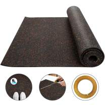 Happybuy 3.6 x 10.2 Ft Red 9.5mm Heavy Duty Gym Flooring Rubber Rolls Vulcanized Rubber Flooring Equipment Mats for Gym or Home
