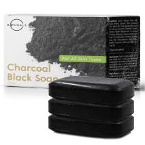 O Naturals Activated Charcoal Black Bar Soap. Peppermint Oil Detoxifying Body Soap Hand Soap Organic Shea Butter. Vegan 100% Natural Face Soap Treats Acne Blemishes. Men & Women. Triple Milled 3Pk 4oz