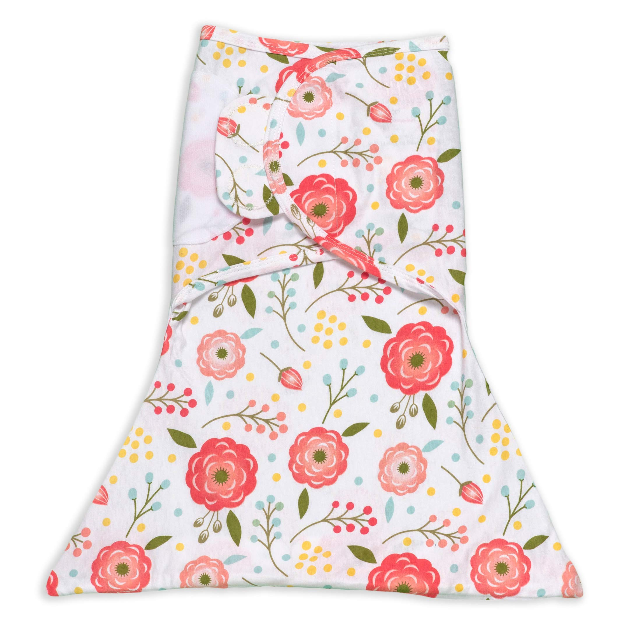 SleepingBaby Zippy Swaddle - Baby Swaddle Blanket with Bottom Zipper, Cozy Baby Swaddle Wrap and Baby Sleep Sack (Medium/Large, Pink Poppy)