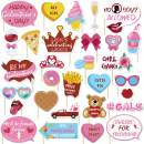 30PCS Galentine's Day Photo Booth Props 2020 Be My Galentine Valentine's Ideas Supplies Girls Gathering Friendship Theme Party Decor Ladies Celebration Brunch Centerpiece Bridal Shower Decorations