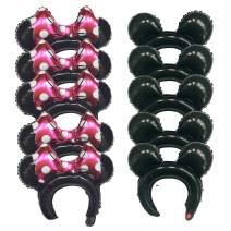 10Pcs Kids Grown-up Cartoon Animal Ears Headband Balloons Hair Bands Birthday Party Decorations