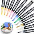 MayMoi Acrylic Paint Markers Pens for Rock Painting, Stone, Ceramic, Glass, Wood, Fabric, Canvas - Premium Waterproof, Quick-dry & Medium Tip Paint Pens (12 Colors)