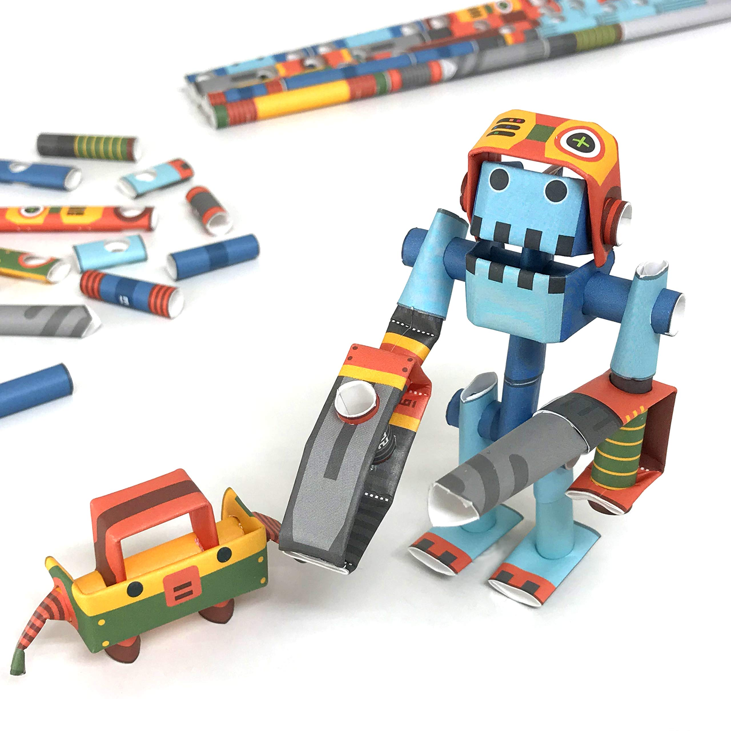 PIPEROID DIY Paper Craft Kit Dr. Joe & Boxy Robot Doctor & Assistant - Japanese Arts and Craft Kit for Kids and Adults - Birthday Gift and Party Favor for 3D Puzzle and Origami Paper Craft Enthusiasts