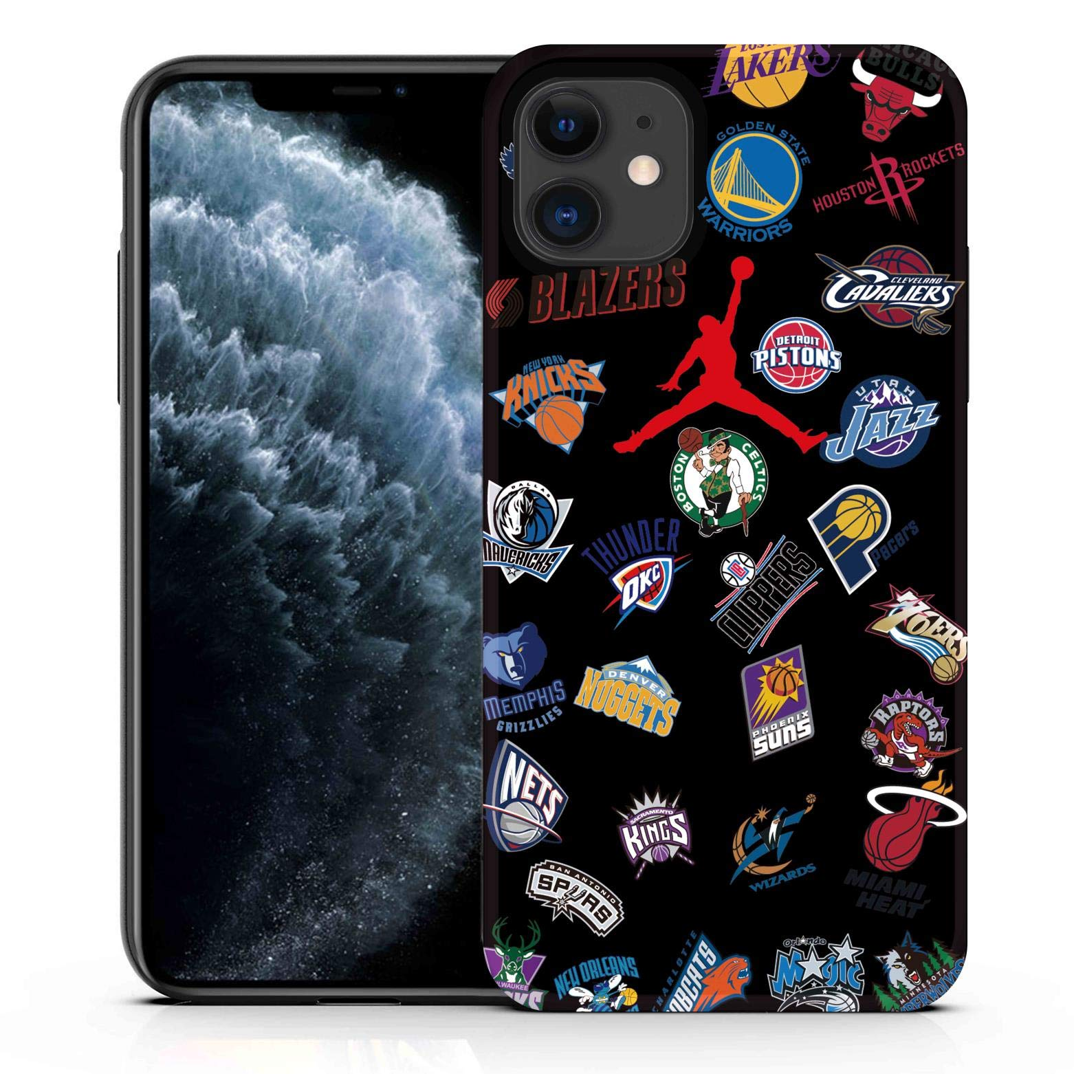 Shellstyle Fashion Cute iPhone Cases Compatible with iPhone 11 (6.1 inch Screen) 2019, Luxury Flexible Gel Case with Whole Edge Protection (Jordon x NBA, iPhone 11(6.1 inch Screen))