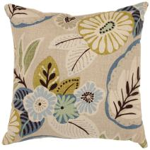 Pillow Perfect Beige/Blue Tropical 18-Inch Throw Pillow