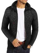 COOFANDY Men's Casual Zipper Knitted Cardigans Sweaters with Pockets