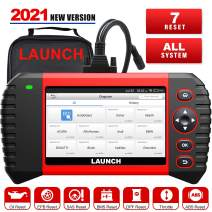 LAUNCH Scanner CRP Touch Pro Elite 2021 Newest Scan Tool with 7 Maintenance Function, All System Diagnostic Tool,OIL SAS EBP BMS DPF ABS Bleeding Throttle Adaptation 7.0 Android Wi-Fi One-Click Update