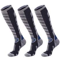 Forestgrow Men's High Performance Ski Socks - Over the Calf Warm Snow Socks for Skiing and Snowboarding