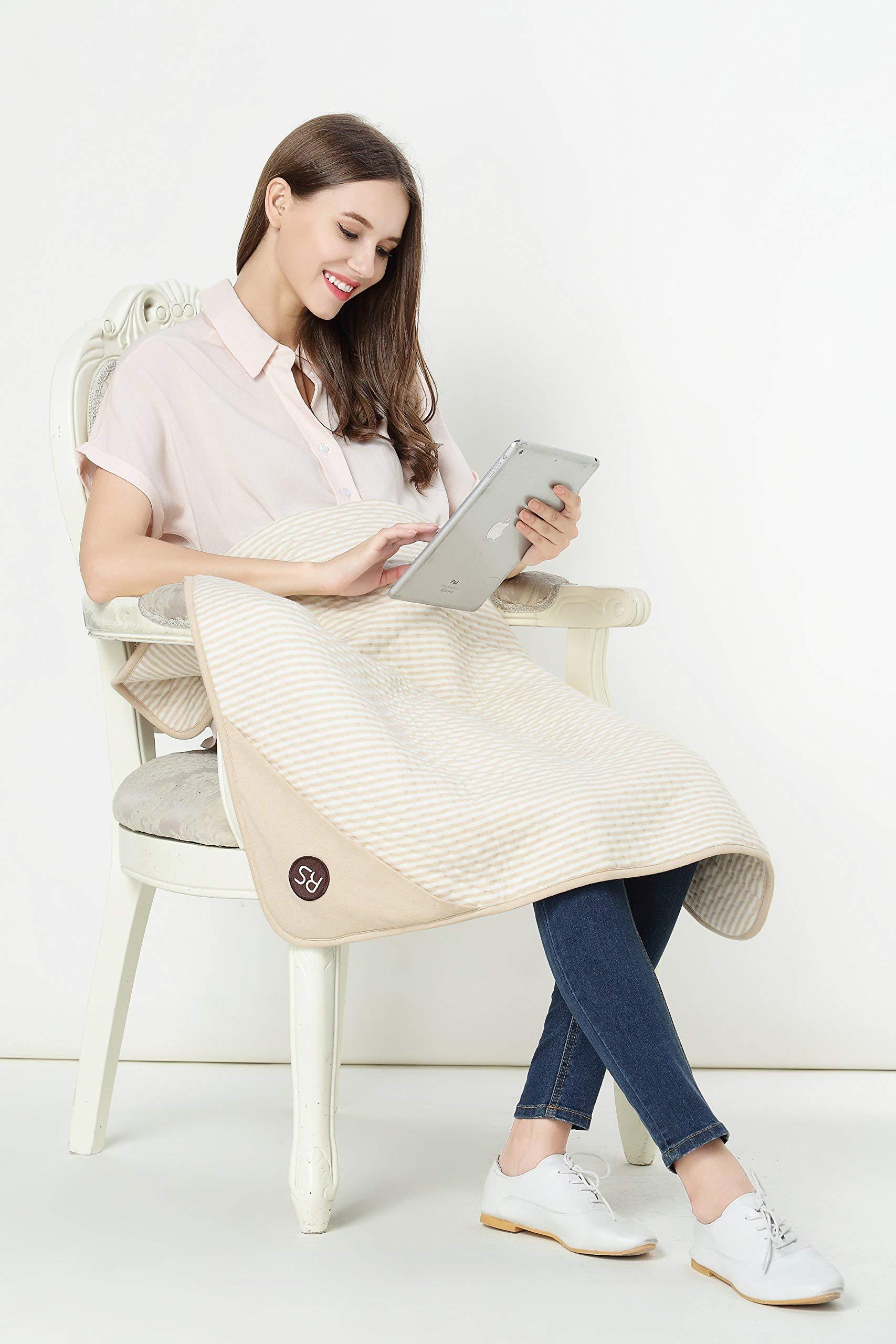 "Protective Belly Pregnancy Baby Blanket, Organic, Anti-Radiation, Cream, 35""x30"""