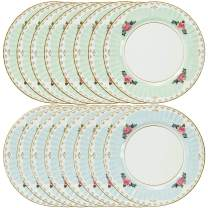 Talking Tables Truly Scrumptious Large Pastel Dinner Paper Plates for a Tea Party, Wedding or Birthday, Blue/Green (16 Count)