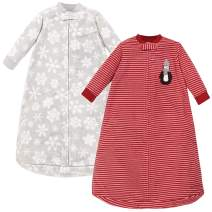 Hudson Baby Unisex Baby Long-Sleeve Fleece Sleeping Bag, Red Penguin, 0-9 Months