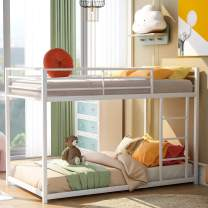 Metal Bunk Beds for Kids,Twin Over Twin Bunk Beds Low Profile, No Box Spring Needed
