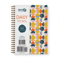 to Do List Daily Task Checklist Planner Time Management Notebook by Bright Day Non Dated Flex Cover Spiral Organizer 8.25 x 6.25 (Circle Moon Phases)