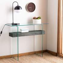 Safavieh Home Kayley Black Oak and Glass Console Table
