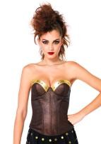 Leg Avenue Women's Warrior Armor Bustier with Stud Accents