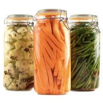 Galashield Glass Jars with Lids Food Storage Jars with Airtight Lids Leak Proof Glass Canisters Kitchen Jars [Set of 3 - 67 oz]