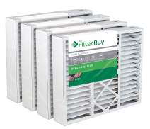 FilterBuy 17.5x21x5 Rheem Ruud PD540010, PD540016 Compatible Pleated AC Furnace Air Filters (MERV 8, AFB Silver). Fits air cleaner models RXHF-E17AM10 RXHF-E17AM13. 4 Pack.