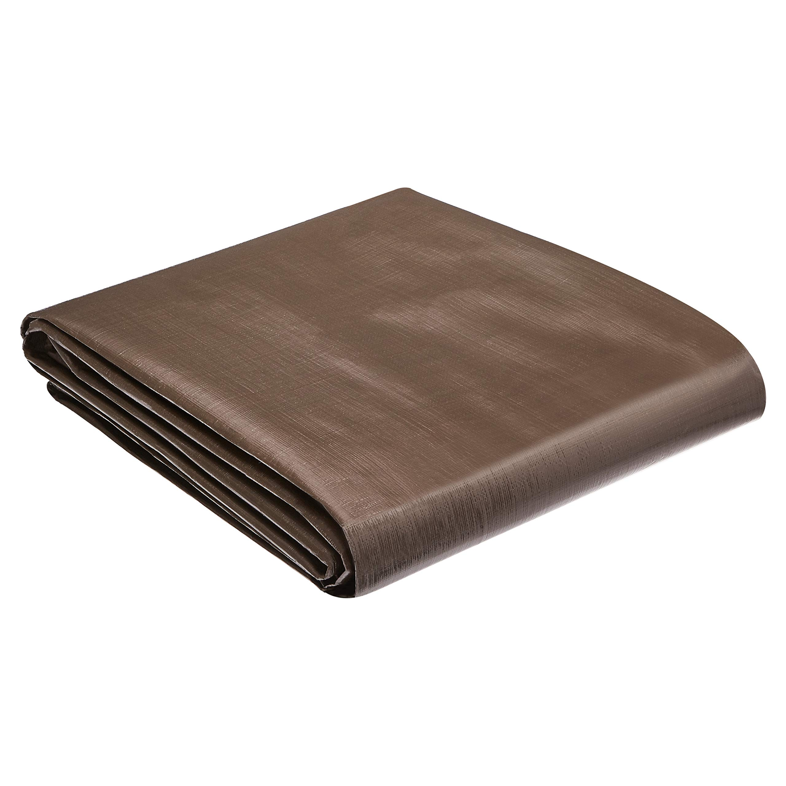 AmazonCommercial Multi Purpose Waterproof Poly Tarp Cover, 10 X 20 FT, 10MIL Thick, Brown/Silver, 2-Pack