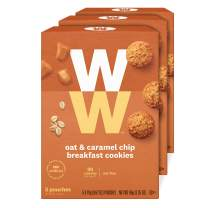 WW Oat & Caramel Chip Breakfast Cookies - 3 SmartPoints, Nut Free - 3 Boxes (15 Count Total) - Weight Watchers Reimagined