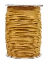 Mandala Crafts 1.5mm 109 Yards Jewelry Making Beading Crafting Macramé Waxed Cotton Cord Rope (Gold)