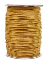 Mandala Crafts 1.5mm 109 Yards Jewelry Making Beading Crafting Macramé Waxed Cotton Cord Rope (Gold)