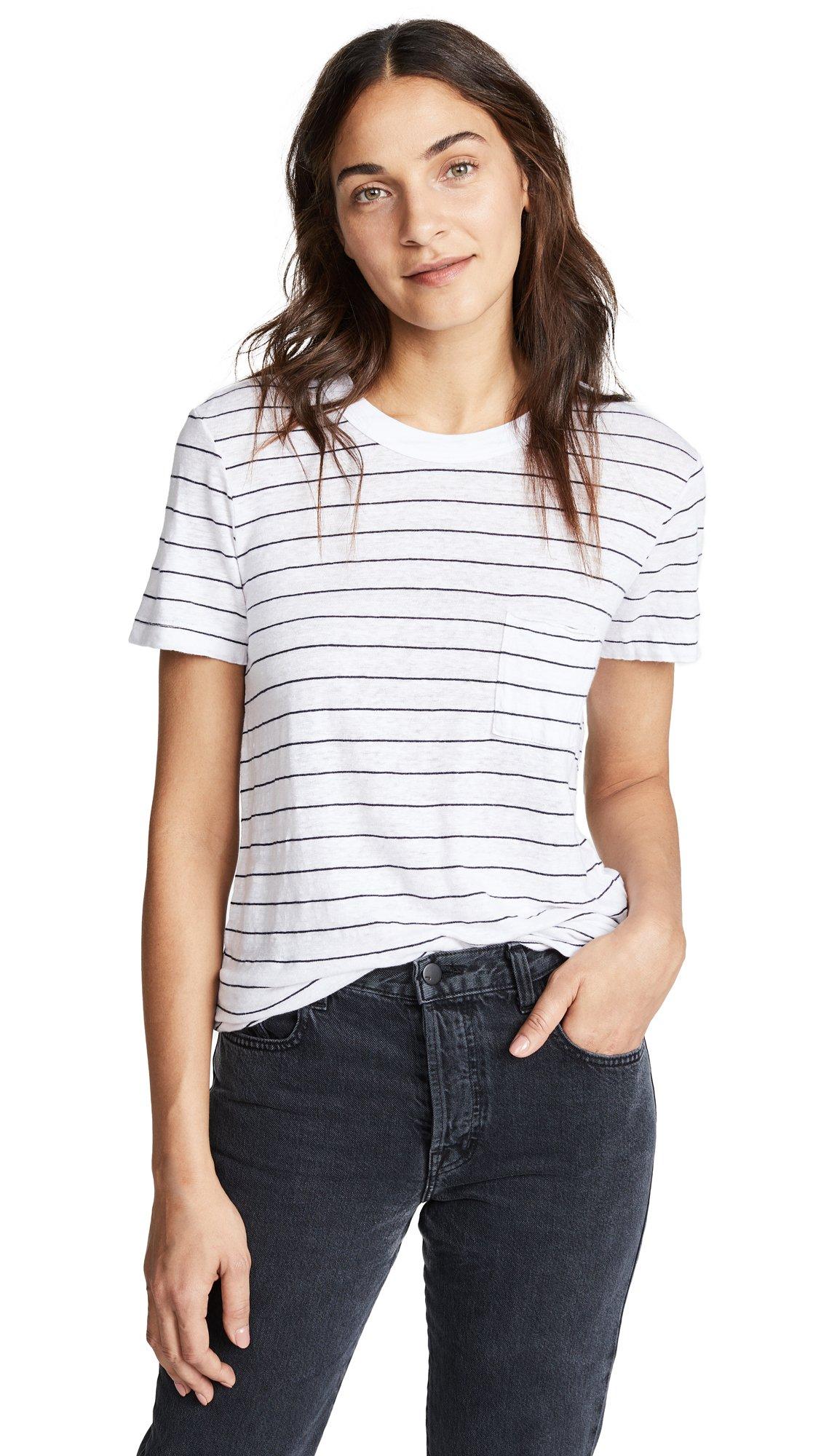 Stateside Women's Striped Pocket Tee