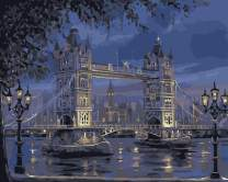 Rihe Paint by Numbers Kits Diy Oil Painting for Adults Kids Beginner - London Bridge 16 x 20 inch with Brushes and Acrylic Pigment (Without Frame)