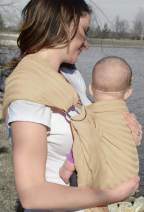 Lite-on-Shoulder Ring/Pouch Hybrid Baby Sling Carrier(Beige)