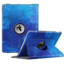 """Fintie Rotating Case for New iPad 7th Generation 10.2 Inch 2019 - [Built-in Pencil Holder] 360 Degree Rotating Smart Protective Stand Cover with Auto Sleep/Wake for iPad 10.2"""" Tablet, Starry Sky"""