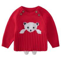pureborn Baby Boys Girls O-Neck Toddler Sweaters Knitted Pullover Warm Coats Outwear 0-4 Years